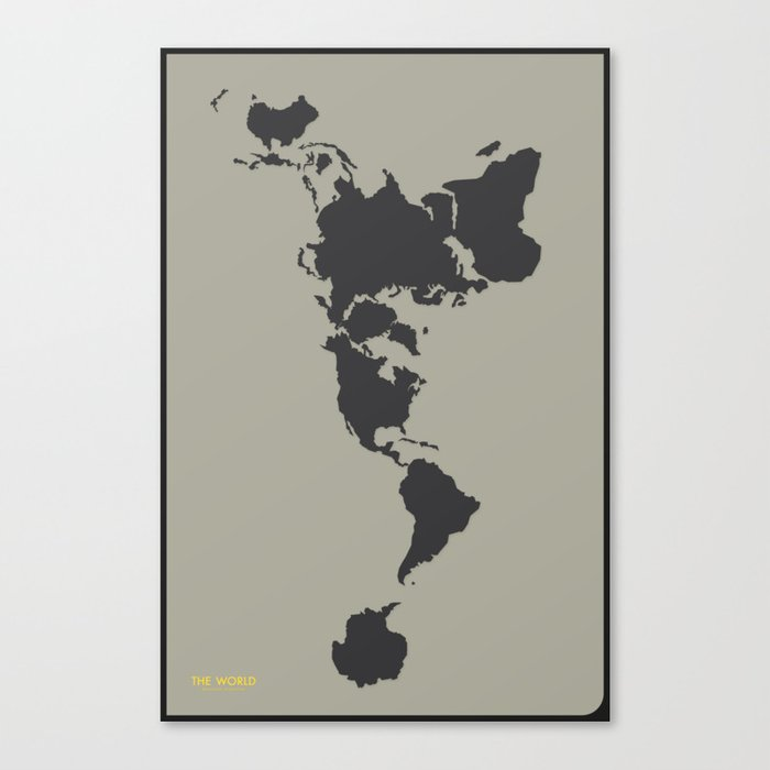 Dymaxion Map - Greys Canvas Print by brennanletkeman | Society6 on