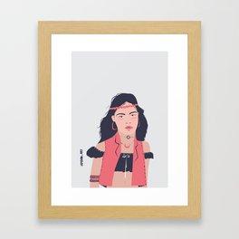 Connect. integrate. love. Framed Art Print