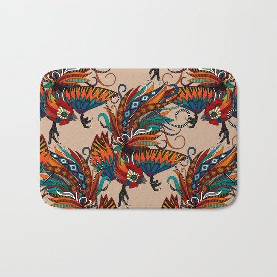 rooster ink beige Bath Mat
