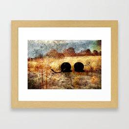 black cherry landscape Framed Art Print