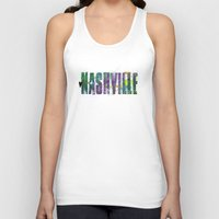 nashville Tank Tops featuring Nashville by Tonya Doughty
