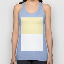 White and Blond Yellow Horizontal Halves Unisex Tank Top