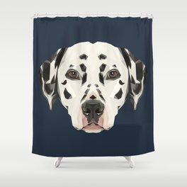 Dalmatian // Navy Shower Curtain