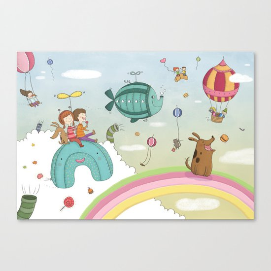 CANDIES WORLD Canvas Print