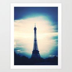 Blue Tower Art Print