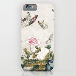Butterflies and flowers : Minhwa-Korean traditional/folk art iPhone Case