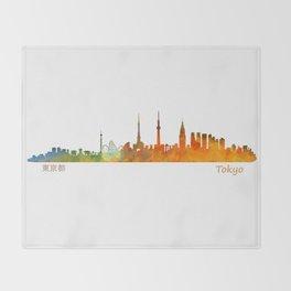 Tokyo City Skyline Hq V1 Throw Blanket