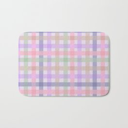 Plaid Pastels {DARK} Bath Mat