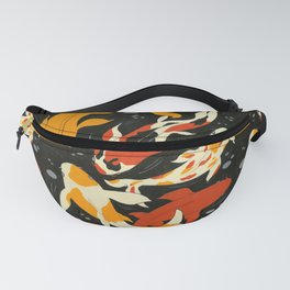 Koi in Black Water Fanny Pack