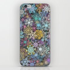 Snowflakes multicolor iPhone & iPod Skin