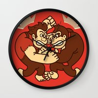wreck it ralph Wall Clocks featuring Let's Wreck it! by MeleeNinja