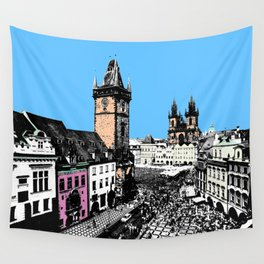 Prague old city Wall Tapestry