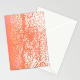 Rustic Peach, Abstract Art Texture Stationery Cards