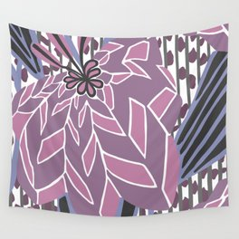 BAYAMO: MAUVE and MORE, Art Deco Tropical Wall Tapestry