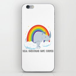 Real Unicorns Have Curves iPhone Skin