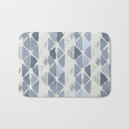 Simply Braided Chevron Indigo Blue on Lunar Gray Bath Mat