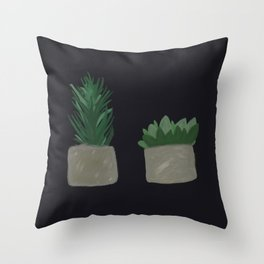 Two Plants in a Pod Throw Pillow