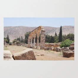 Old Ruins & Mountains Rug