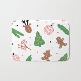Christmas pattern in pink Bath Mat