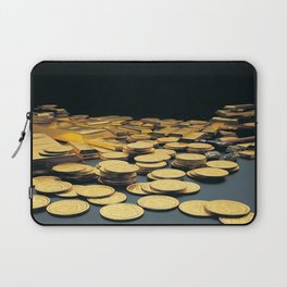 Gold Coins Laptop Sleeve