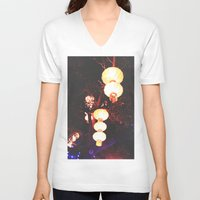 lanterns V-neck T-shirts featuring Lanterns by Kaartik Gupta