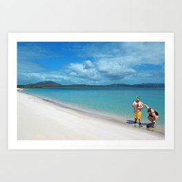 Whiteheaven Beach - Botero Art Print