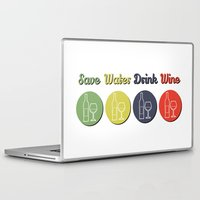 wine Laptop & iPad Skins featuring wine by flydesign