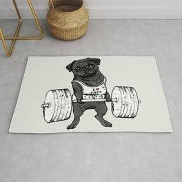 Black Pug Lift Rug