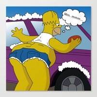 simpsons Canvas Prints featuring Simpsons by mark ashkenazi
