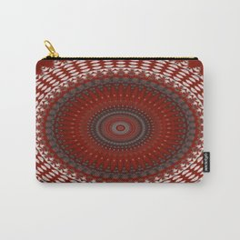 Detailed Ruby Red Mandala Carry-All Pouch
