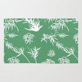 Bamboo Silhouettes in Everglade Green/Seashell White Rug