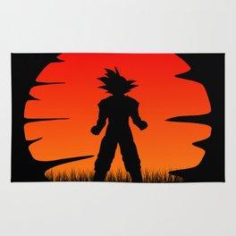 The sunset of super saiyan Rug
