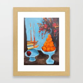 golden girls fruit bowl Framed Art Print