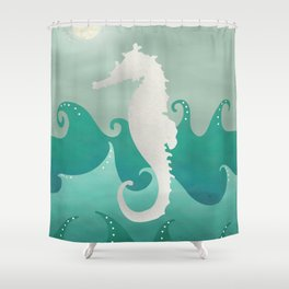Sea Stallion #Seahorse #Ocean Shower Curtain