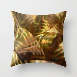 Golden Ribbon Throw Pillow