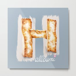 Halloumi cheese Metal Print