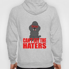 Perfect Gift For Dog Breed Poodle Lover T-shirt Design Can't see The Haters For Poodle Enthusiast Hoody