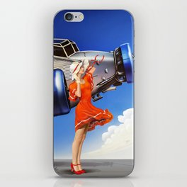 (Art Deco) Skirt with wings iPhone Skin