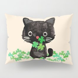 The Luckiest Cat Pillow Sham