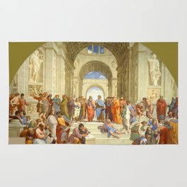 """Raffaello Sanzio da Urbino """"The School of Athens"""", 1509-1510 Rug"""