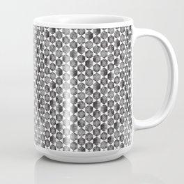 Black and White Small Hexagonal Pattern Coffee Mug