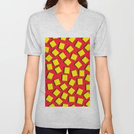 yellow square holes Unisex V-Neck