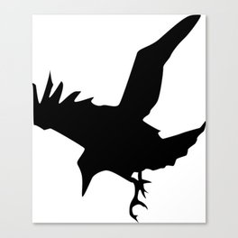 Raven A Halloween Bird Of Prey  Canvas Print