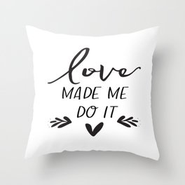 Love Sign Anniversary Decor Engagement Gift Valentines Day Decor Gift For Her Romantic Gifts For Him Throw Pillow