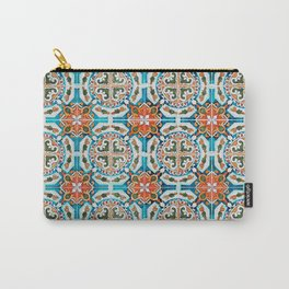Seamless Floral Pattern Ornamental Tile Design : 1 Carry-All Pouch