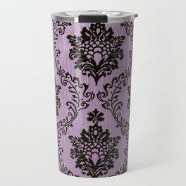 Pink Damask pattern,chic,elegant,great Gatsby,belle epoque,trending,fan pattern,victorian,modern pa Travel Mug
