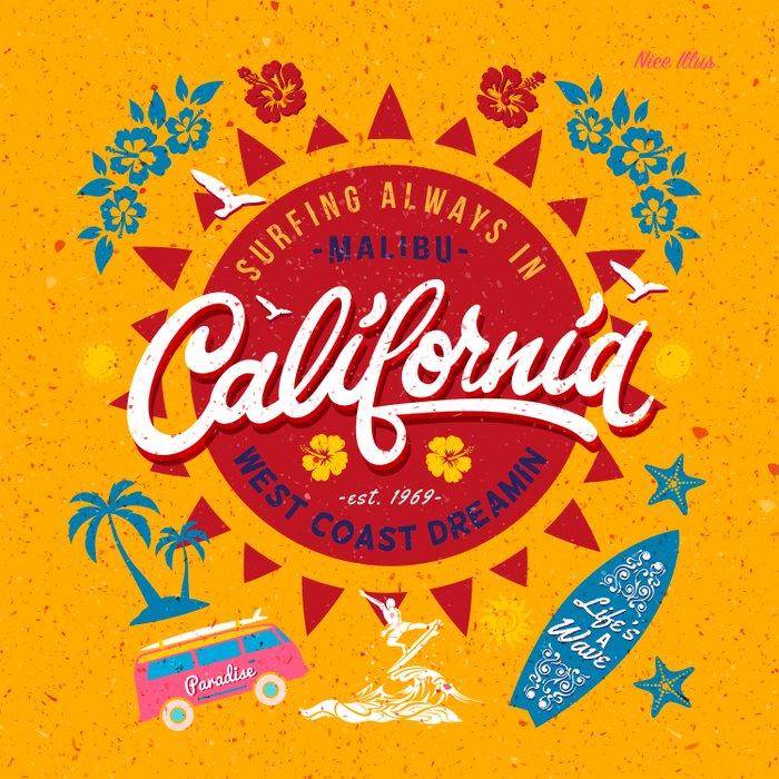 California West Coast Dreamin Comforters