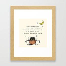 Witch Advice Framed Art Print