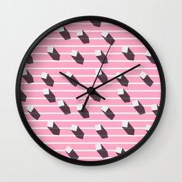 sugar cubes with long shadows Wall Clock