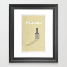 Spaceballs minimalist poster Framed Art Print
